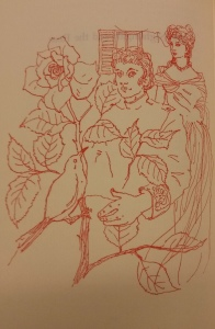 The ladies from the tramps... why should he decide? c.1960 illustration of Oscar Wilde's 'The Nightingale and the Rose'