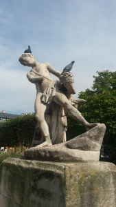 Tortured geniuses are often found in sculpture gardens amidst an entourage of feathered furies...